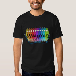 surfin' the rainbow t-shirt