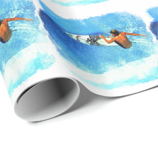 Surfing 1 Wrapping Paper