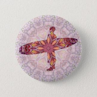 Surfing 4 6 cm round badge