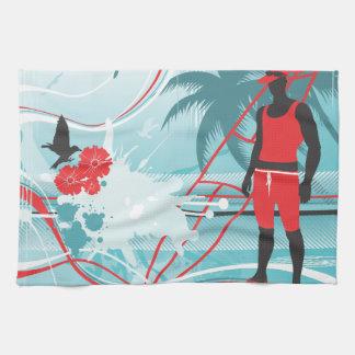 Surfing 4 Kitchen Towels