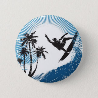 Surfing 6 Cm Round Badge