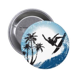 Surfing 6 Cm Round Badge