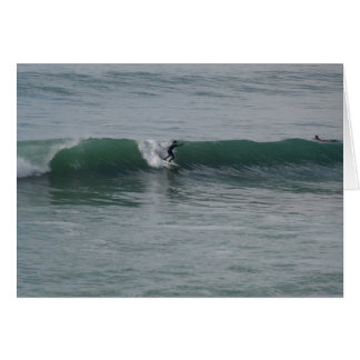 Surfing At Moonstone Beach in Cambria, CA Greeting Card