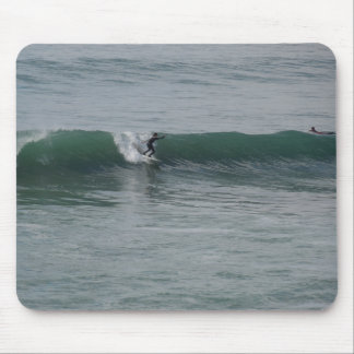 Surfing At Moonstone Beach in Cambria CA Mousepads