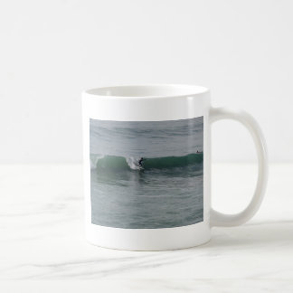 Surfing At Moonstone Beach in Cambria, CA Mug