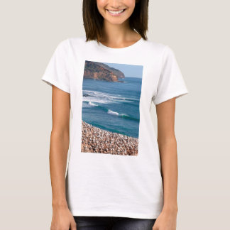 Surfing at Muriwai Beach in front of Gannet colony T-Shirt