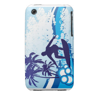 surfing background Case-Mate iPhone 3 cases