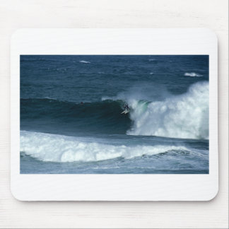 Surfing big waves in New Zealand Mouse Mat
