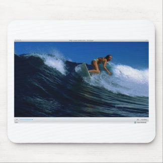 Surfing Birds Mouse Pad