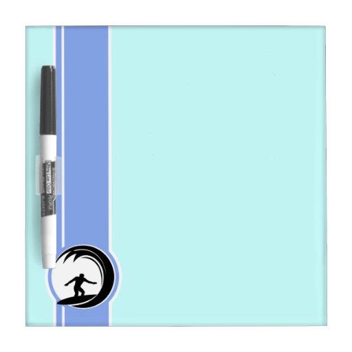 Surfing; Blue Dry-Erase Whiteboards