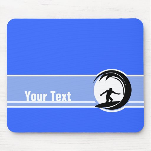 Surfing; Blue Mouse Pads