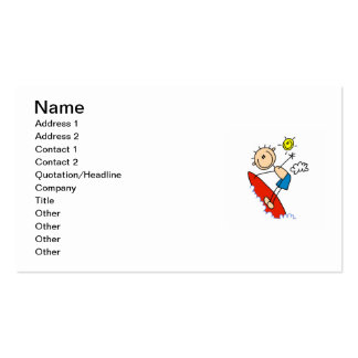 Surfing Boy Stick Figure Pack Of Standard Business Cards
