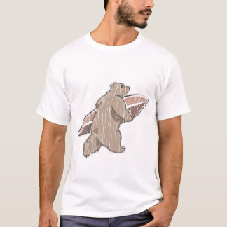 Surfing Brown Bear T-Shirt