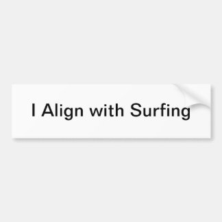 surfing bumper sticker car bumper sticker