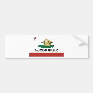 Surfing Cali Sloth Bumper Sticker