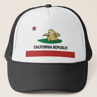Surfing Cali Sloth Trucker Hat