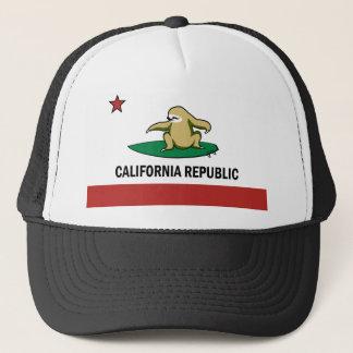 Surfing Cali Sloth Trucker Hat