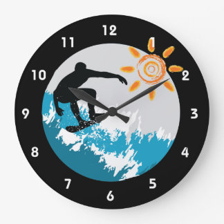 Surfing Design Wall Clock