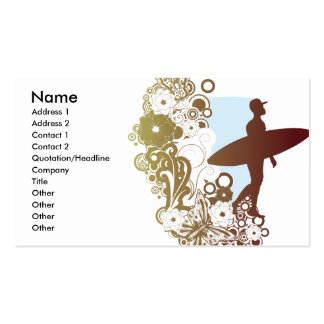 surfing dreams business card template