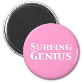 Surfing Genius Gifts Refrigerator Magnet