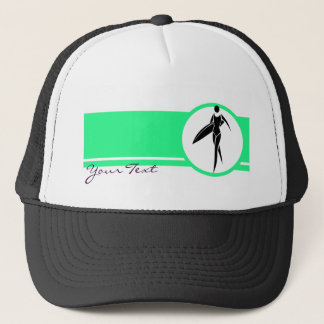 Surfing Girl Trucker Hat