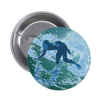 Surfing Graphic 6 Cm Round Badge