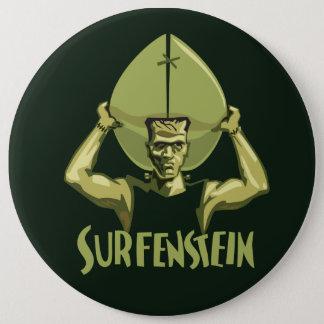 Surfing Halloween Frankenstein 6 Cm Round Badge