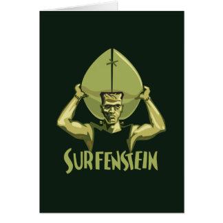 Surfing Halloween Frankenstein Card