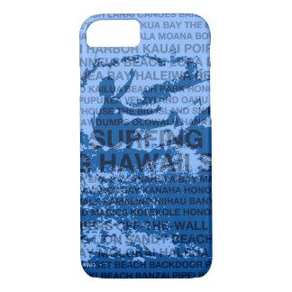 Surfing Hawaii Cutback Hawaiian Surfer - Blue iPhone 8/7 Case
