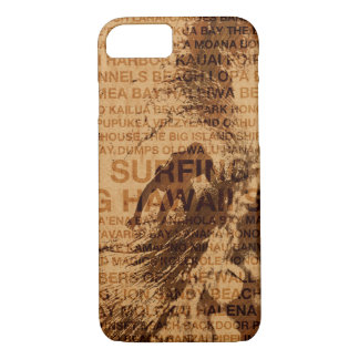 Surfing Hawaii Green Room Faux Wood Surfer iPhone 8/7 Case