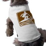 Surfing Highway Sign Doggie Shirt