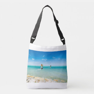 Surfing in the blue crossbody bag