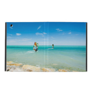 Surfing in the blue iPad folio cover