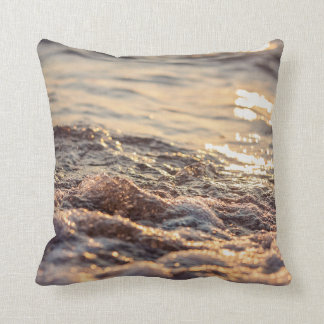Surfing in the sunset cushion