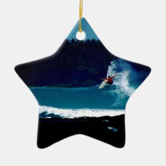 surfing indonesia nias air reverse blowtail christmas ornament
