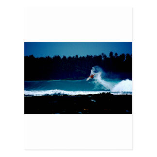 surfing indonesia nias air reverse blowtail postcard