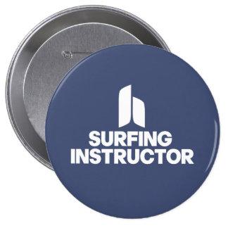 Surfing Instructor 10 Cm Round Badge