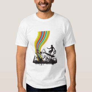 surfing into rainbows t shirts