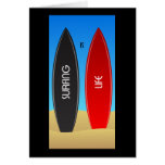 Surfing is Life Zen Greeting Card