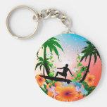 Surfing Key Chains