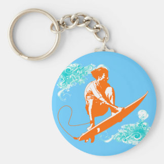 Surfing Key Ring