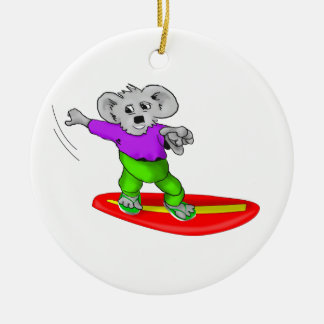 Surfing Koala Christmas Ornament
