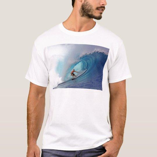 Surfing large blue wave Mentawai Islands T-Shirt