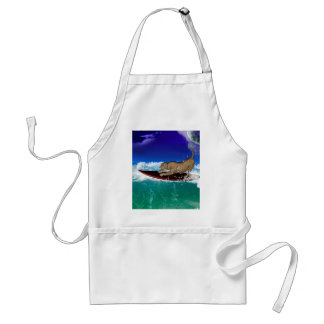 Surfing lion aprons
