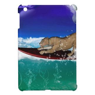 Surfing lion iPad mini cases