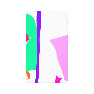 Surfing Longboard Gallery Wrap Canvas