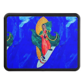 surfing nun on blue wave trailer hitch hitch cover