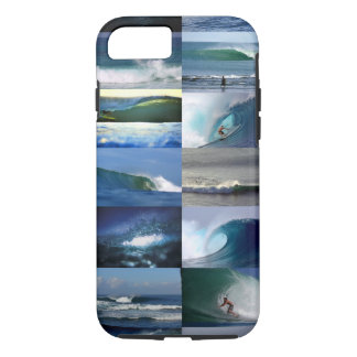 Surfing ocean waves montage iPhone 8/7 case