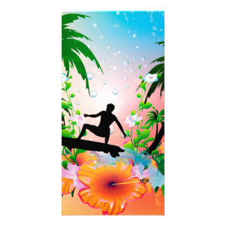 Surfing Photo Card Template