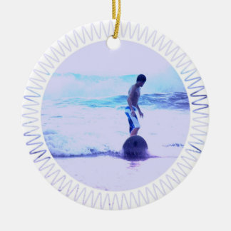 Surfing Photo Design Ornament